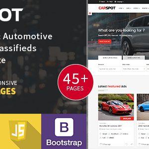 قالب آگهی خودرو کاراسپات| قالب Carspot