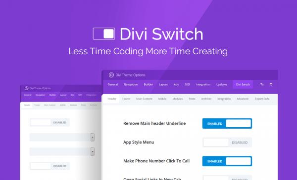 افزونه دیوی سوئیچ | Divi Switch
