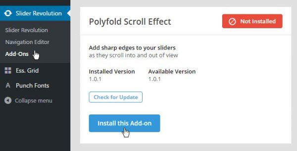 Slider Revolution Polyfold Scroll AddOn | افزونه Polyfold برای اسلایدر رولوشن