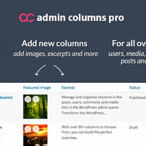 افزونه ویرایش صفحات در وردپرس Admin Columns Pro