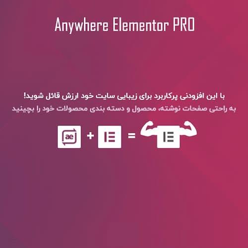 افزونه افزودنی های صفحه ساز قدرتمند Anywhere Elementor Pro