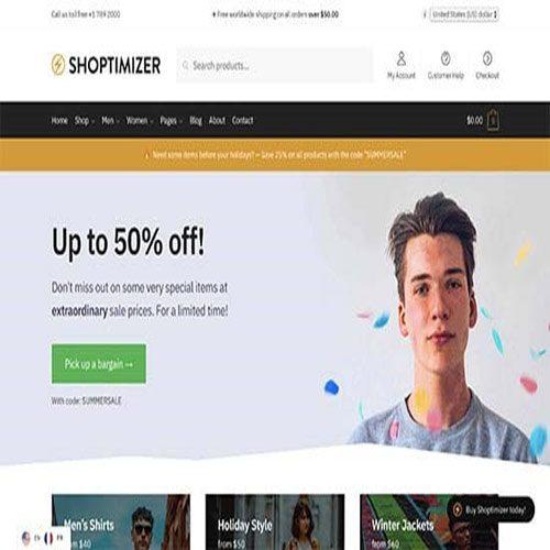 قالب فروشگاهی وردپرس Shoptimizer