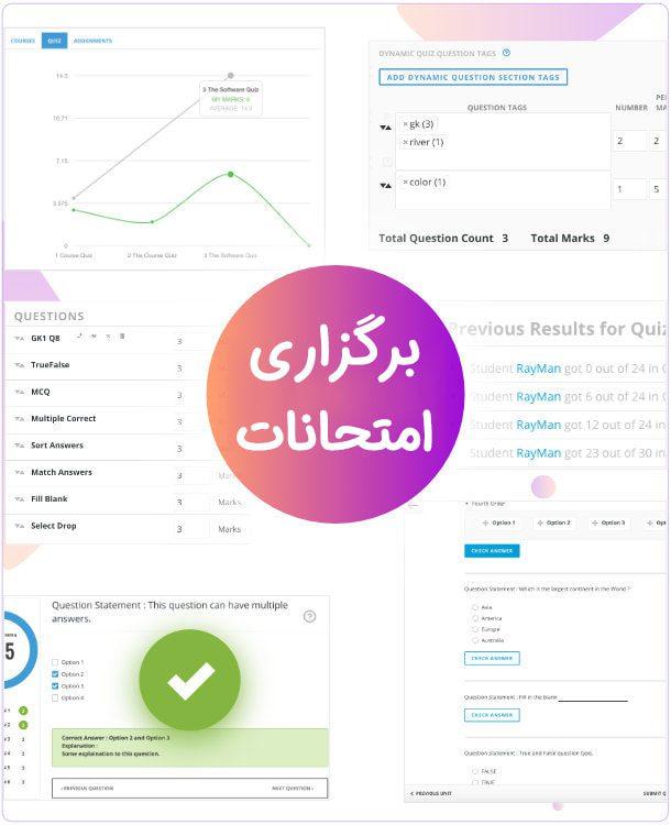 شیوه برگزاری امتحانات/قالب آموزش آنلاین وردپرس WPLMS