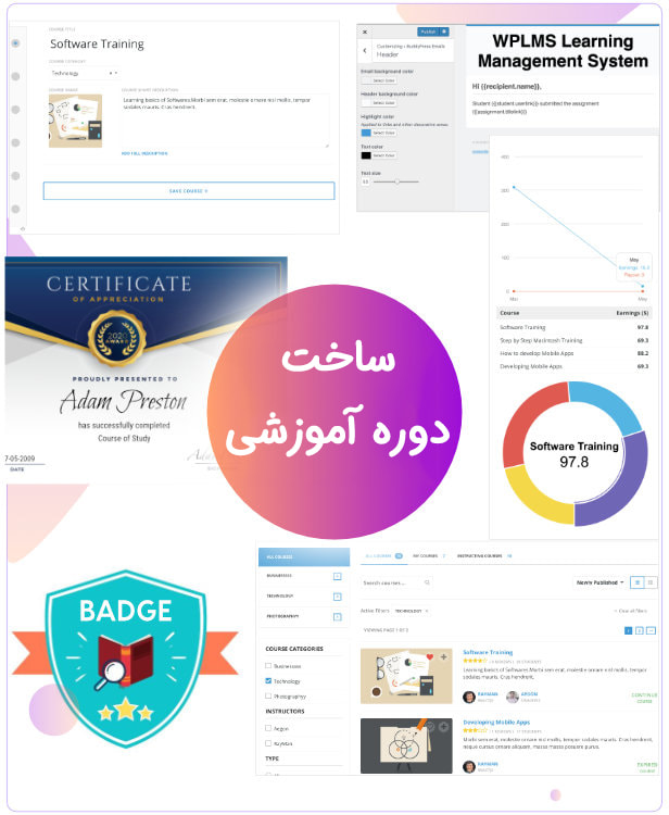 ساخت دوره آموزشی/قالب آموزش آنلاین وردپرس WPLMS