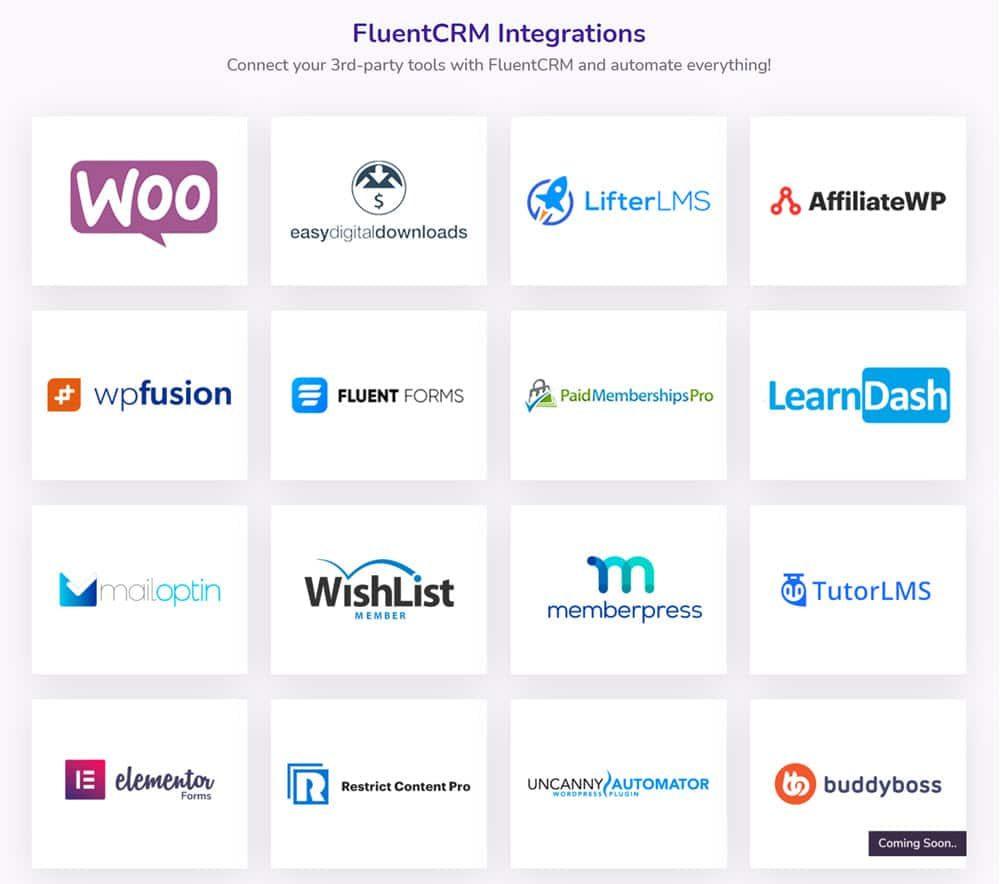 ادغام افزونه ها/افزونه FluentCRM Pro