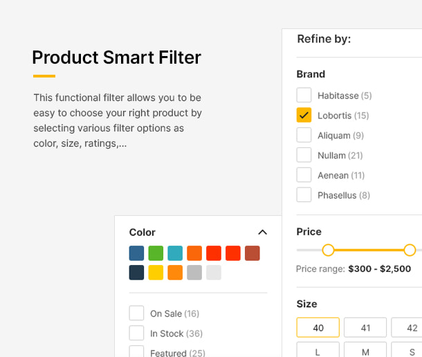 فیلتر هوشمند محصول