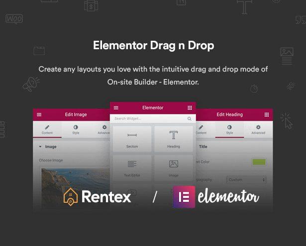 صفحه ساز المنتور/قالب مشاور املاکی Rentex