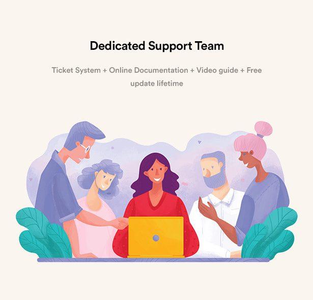 تیم پشتیبانی اختصاصی/قالب مشاور املاکی Rentex
