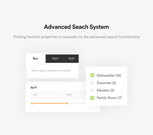 سیستم جستجوی پیشرفته/قالب مشاور املاکی Rentex