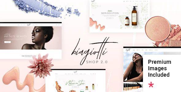 قالب فروشگاهی لوازم زیبایی و آرایشی Biagiotti