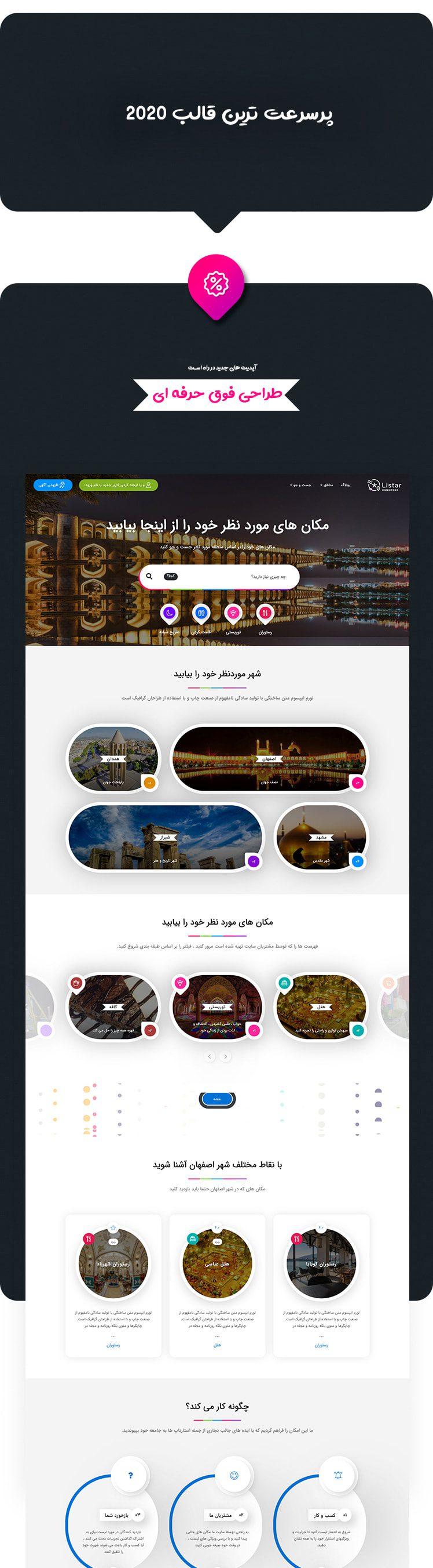 طراحی فوق حرفه ای/ قالب آگهی و دایرکتوری Listar