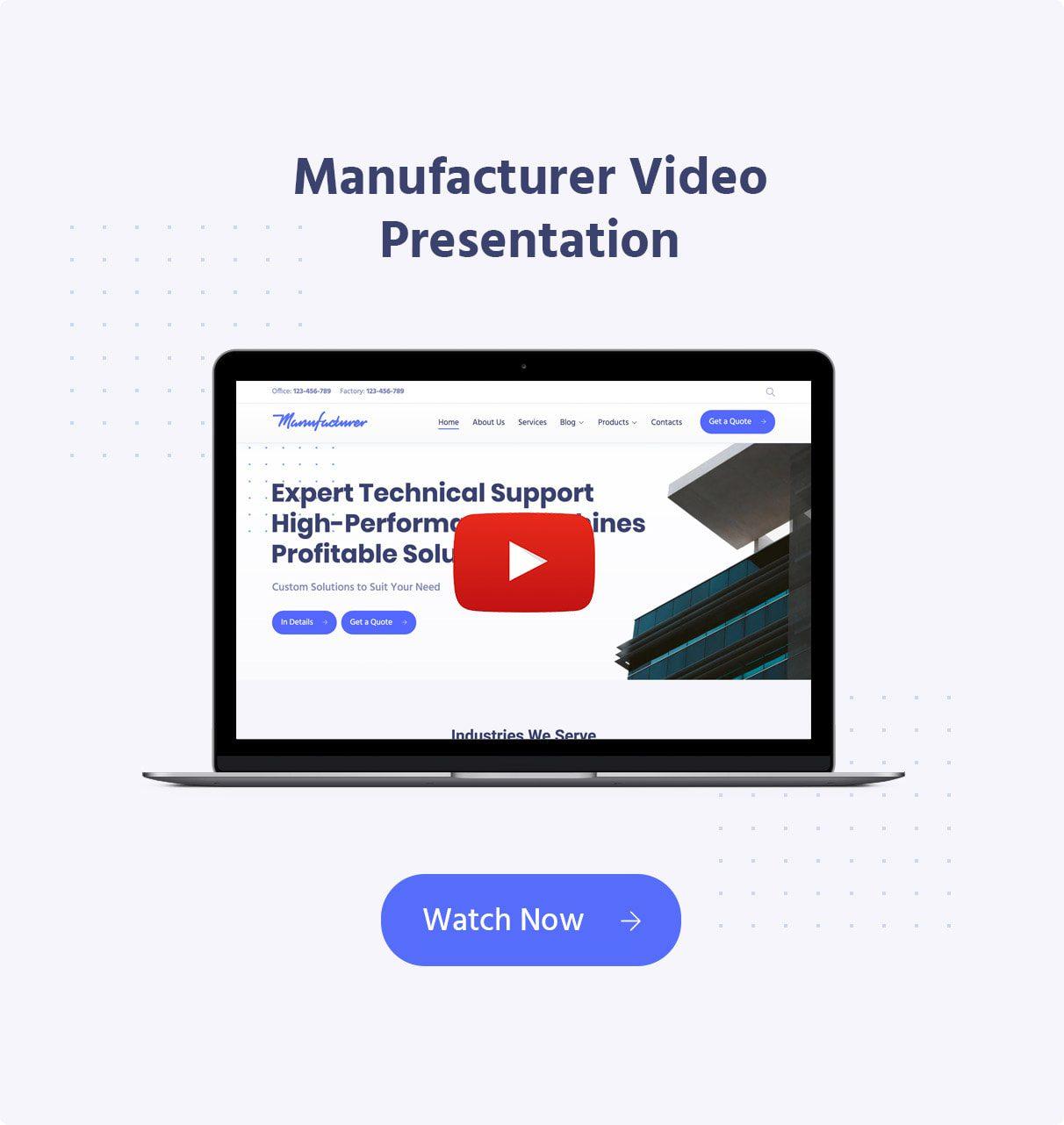 قالب Manufacturer | قالب شرکتی و ساخت و ساز Manufacturer | قالب وردپرس Manufacturer