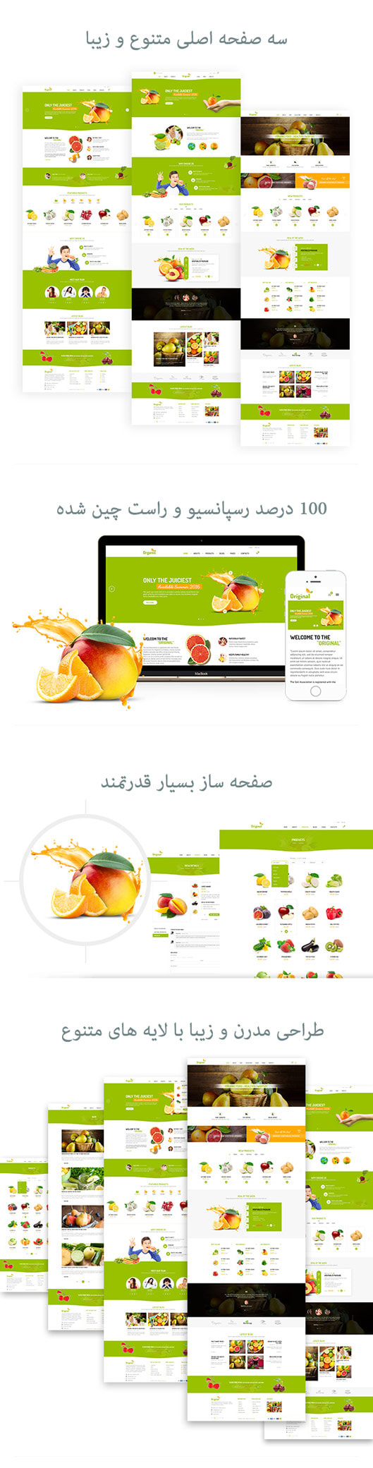 قالب Organica | قالب فروشگاهی Organica | قالب وردپرس Organica
